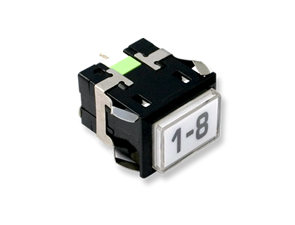 BOTON BLANCO G110 LED 5X39 (SEGA)